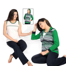 Load image into Gallery viewer, Ladies 3 Pcs Pyjama Set With Hoodie [colour]- Hautie UK, #Nightfashion | #Underfashion