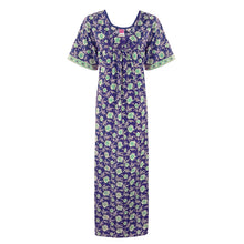 Load image into Gallery viewer, SHORT SLEEVE FLORAL NIGHTDRESS [colour]- Hautie UK, #Nightfashion | #Underfashion