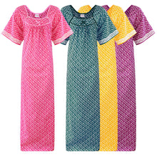 Load image into Gallery viewer, Cotton Rich Long Nightgown [colour]- Hautie UK, #Nightfashion | #Underfashion