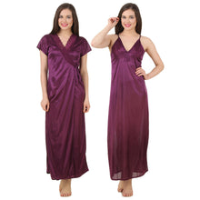 Load image into Gallery viewer, Satin Nightwear Set Nighty With Dressing Gown/ Robe [colour]- Hautie UK, #Nightfashion | #Underfashion
