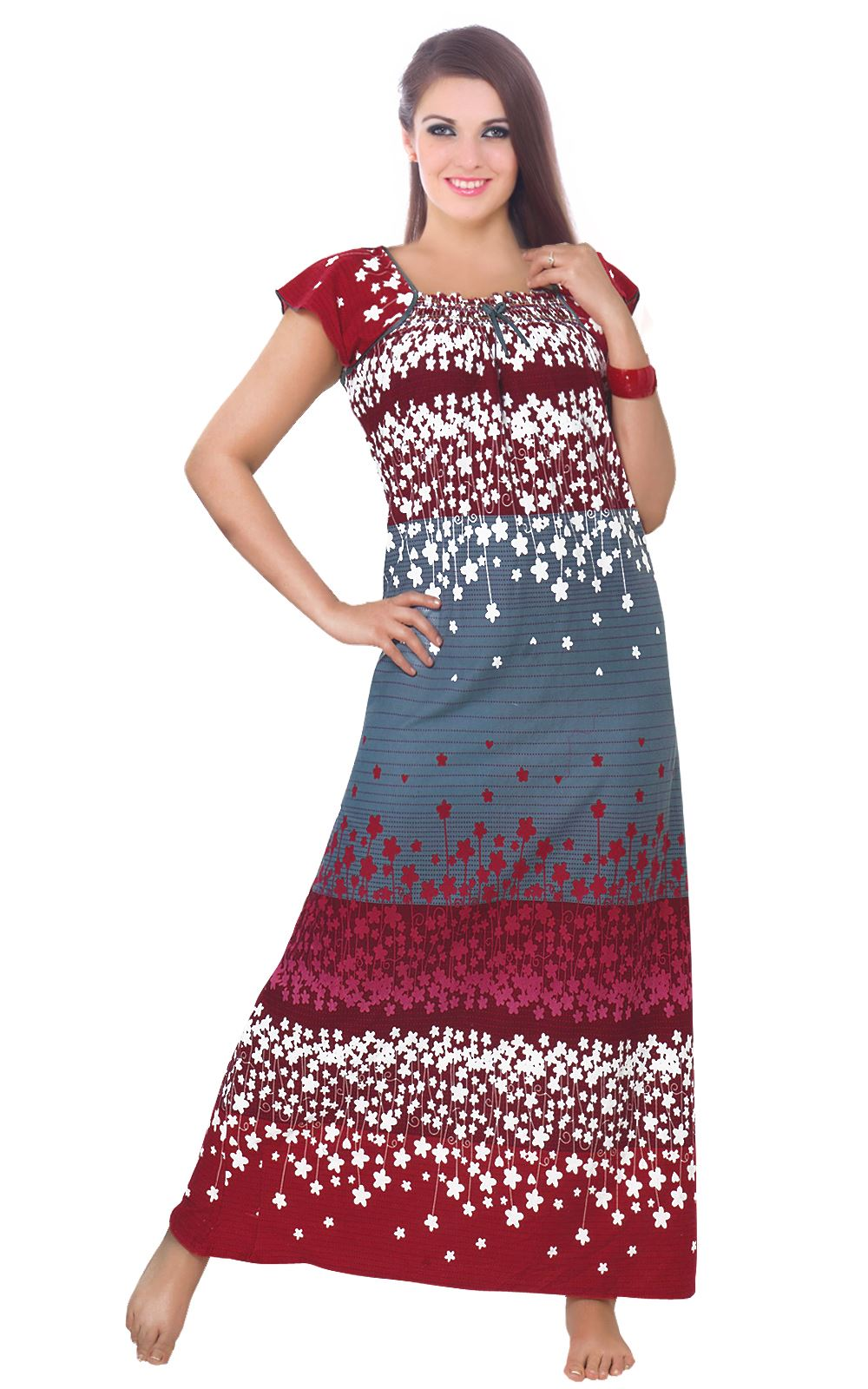 Cotton Rich Floral Nightdress [colour]- Hautie UK, #Nightfashion | #Underfashion