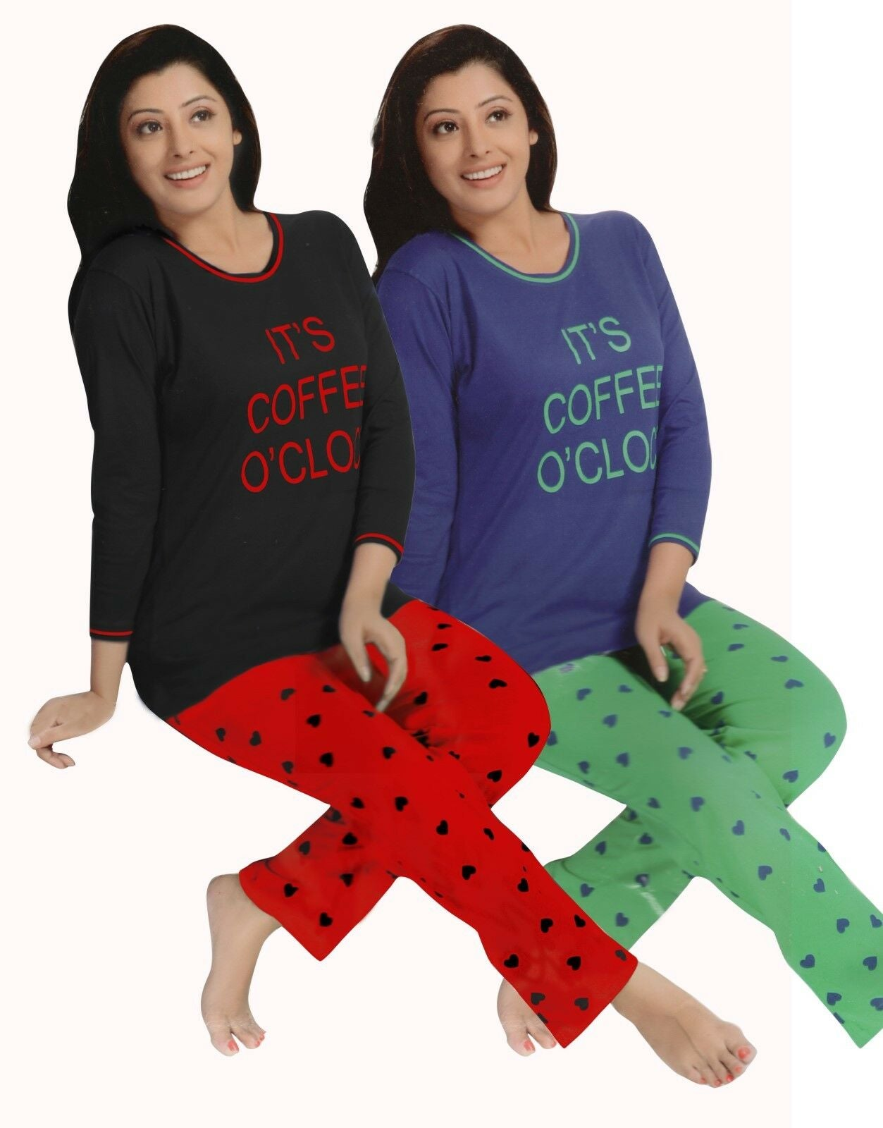 IT'S COFFEE O CLOCK  Pyjama Set Pjs [colour]- Hautie UK, #Nightfashion | #Underfashion