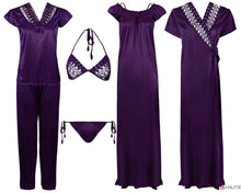 Load image into Gallery viewer, Ladies 6 Pcs Nightwear Set [colour]- Hautie UK, #Nightfashion | #Underfashion