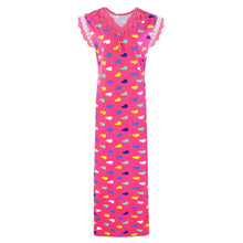 Load image into Gallery viewer, Women Heart Print Stretchable Cotton Nightie [colour]- Hautie UK, #Nightfashion | #Underfashion