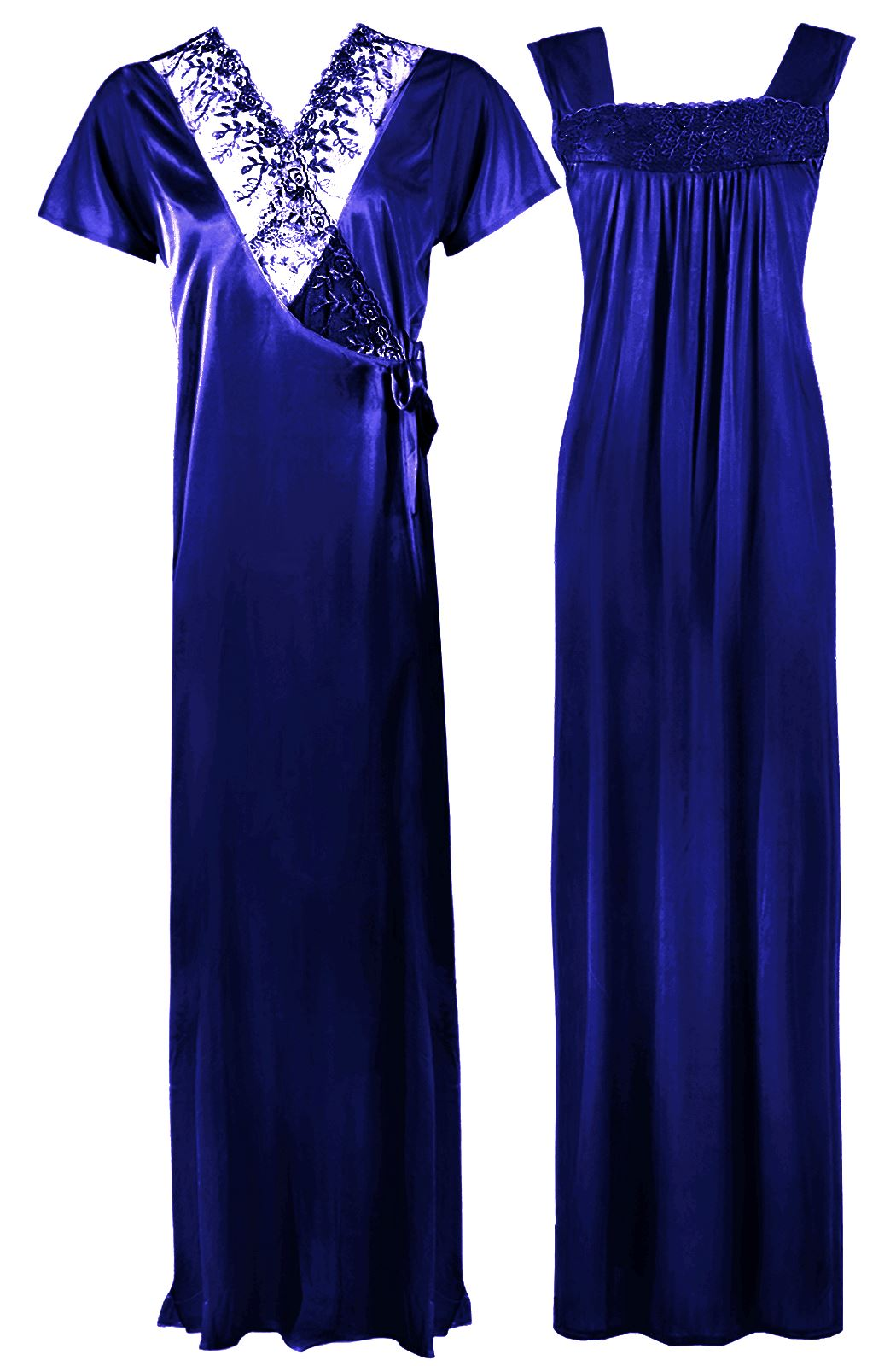Satin Nighty With Dressing Gown / Robe [colour]- Hautie UK, #Nightfashion | #Underfashion