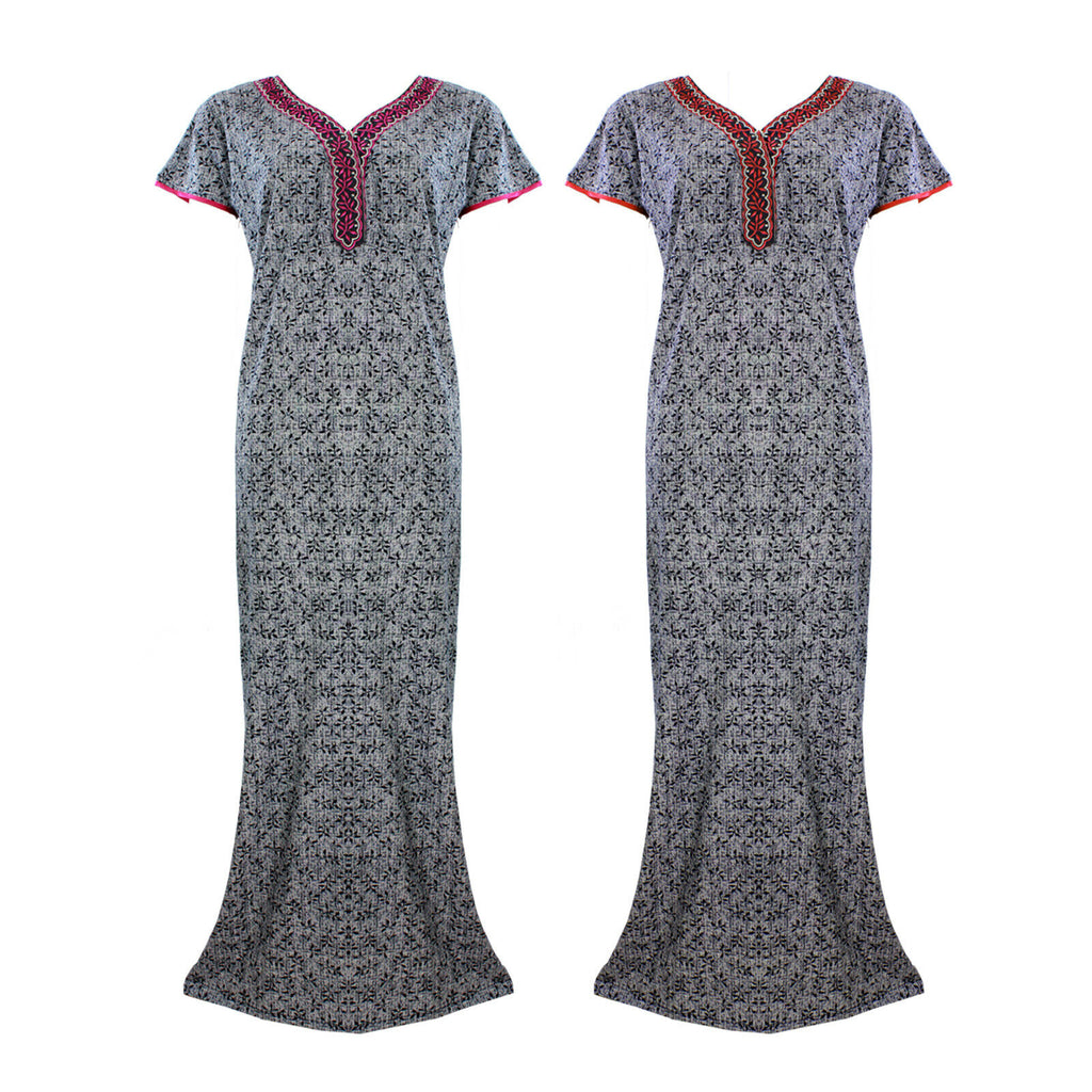 Cotton Rich Embroidery Nightwear [colour]- Hautie UK, #Nightfashion | #Underfashion