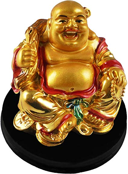 Fat Laughing Buddha Budai Garden Ornament Spiritual Statue Figure Feng Shui [colour]- Hautie UK, #Nightfashion | #Underfashion