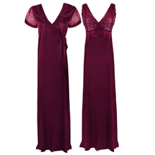 Load image into Gallery viewer, Satin 2 Pcs Nighty and Robe