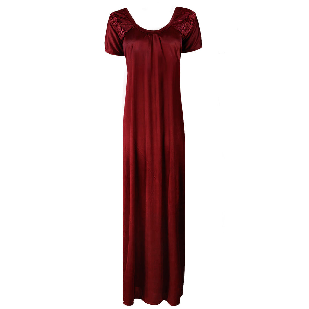 Satin Maxi Nightdress - Hautie Nightfashion