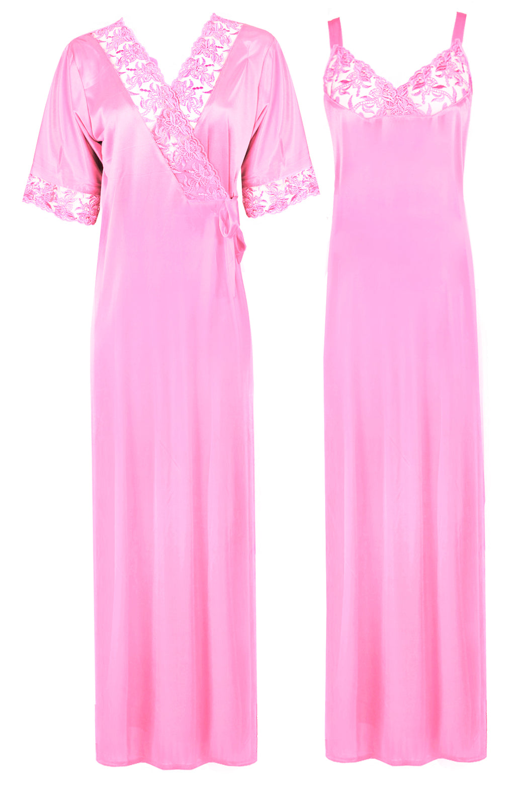 Women Satin Nighty with Robe Nightdress [colour]- Hautie UK, #Nightfashion | #Underfashion