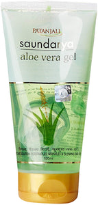 PATANJALI - Organic Natural Bio Active Aloe Vera Gel - 150ML [colour]- Hautie UK, #Nightfashion | #Underfashion