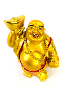 Lucky Laughing Happy Fat Buddha Buda Ornament Statue Sculpture Feng Shui Vastu Gift [colour]- Hautie UK, #Nightfashion | #Underfashion