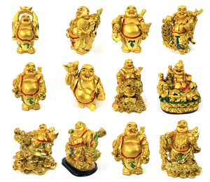 Lucky Laughing Happy Fat Buddha Buda Ornament Statue Sculpture Feng Shui Vastu [colour]- Hautie UK, #Nightfashion | #Underfashion
