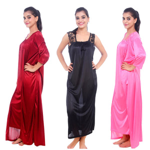 Isla Satin Nightdress and Dressing Gown Set