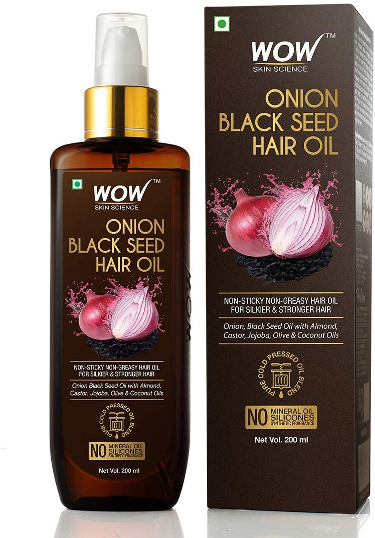 Wow Onion Hair Oil With Essential Oils Hair Regrowth Oil For Hair Treatment 200ml [colour]- Hautie UK, #Nightfashion | #Underfashion