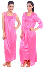Load image into Gallery viewer, Isla Satin Nightdress and Dressing Gown Set