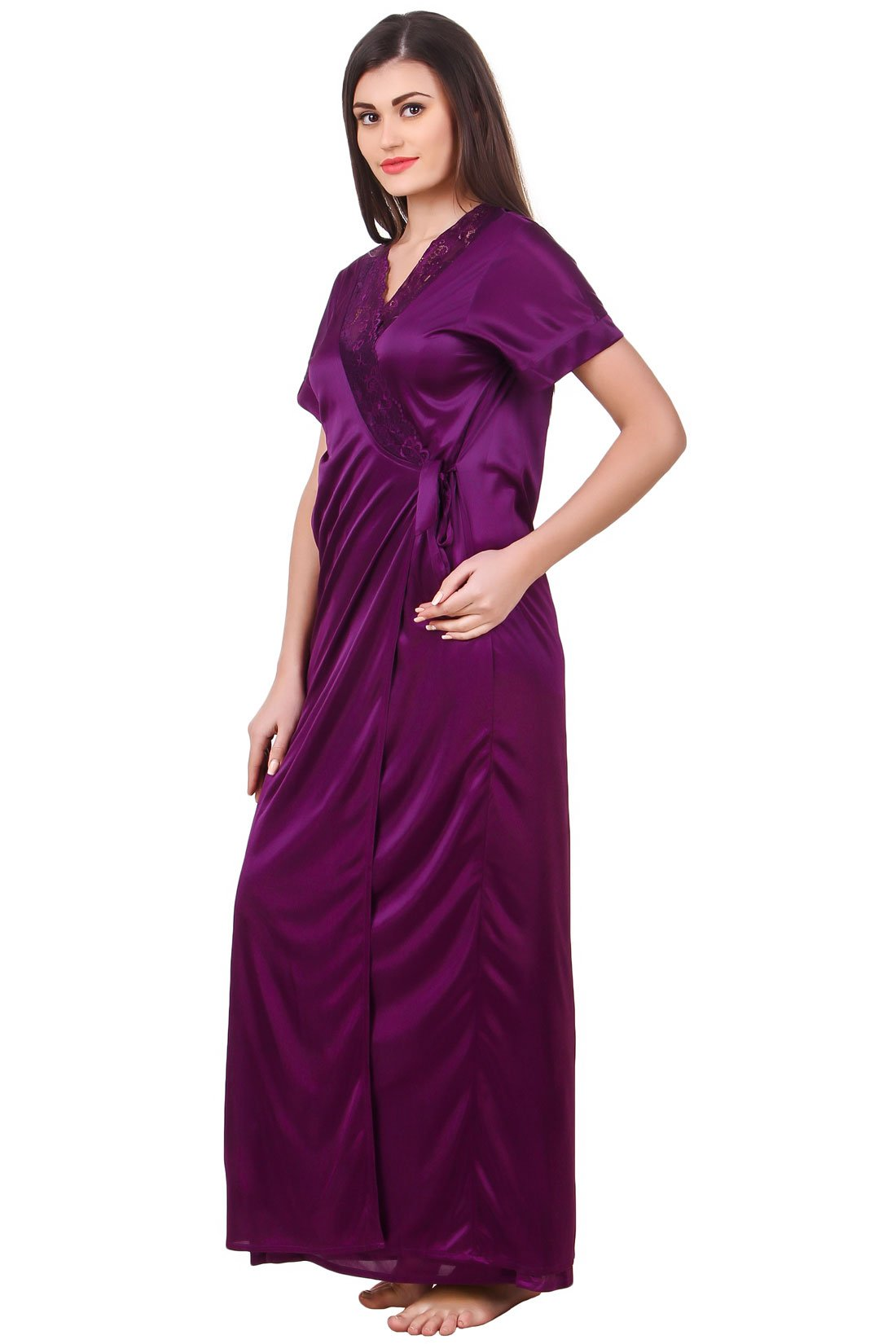 Grace Plus Size Satin Nightwear Set
