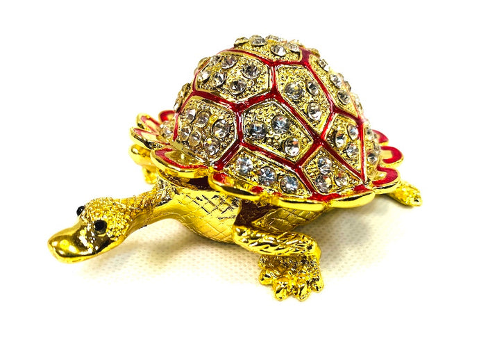 Antique Feng Shui & Vastu Crystal Tortoise with Secret wish Compartment [colour]- Hautie UK, #Nightfashion | #Underfashion