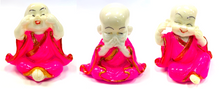Load image into Gallery viewer, 3 Pcs set Resin Wise Buddha Hear/Speak/See No Evil Monk Stone Statue [colour]- Hautie UK, #Nightfashion | #Underfashion