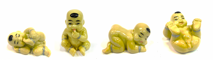 Feng Shui Baby Buddha Happy Monk Figurines/Paperweight Gift Set [colour]- Hautie UK, #Nightfashion | #Underfashion