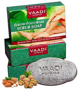 Vaadi Herbals Organic Elbow Foot Knee Scrub Soap bar Soap With Almond And Walnut [colour]- Hautie UK, #Nightfashion | #Underfashion