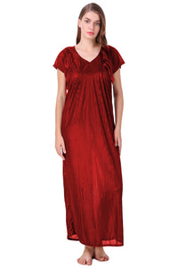 Emily Satin Striped Nightdress