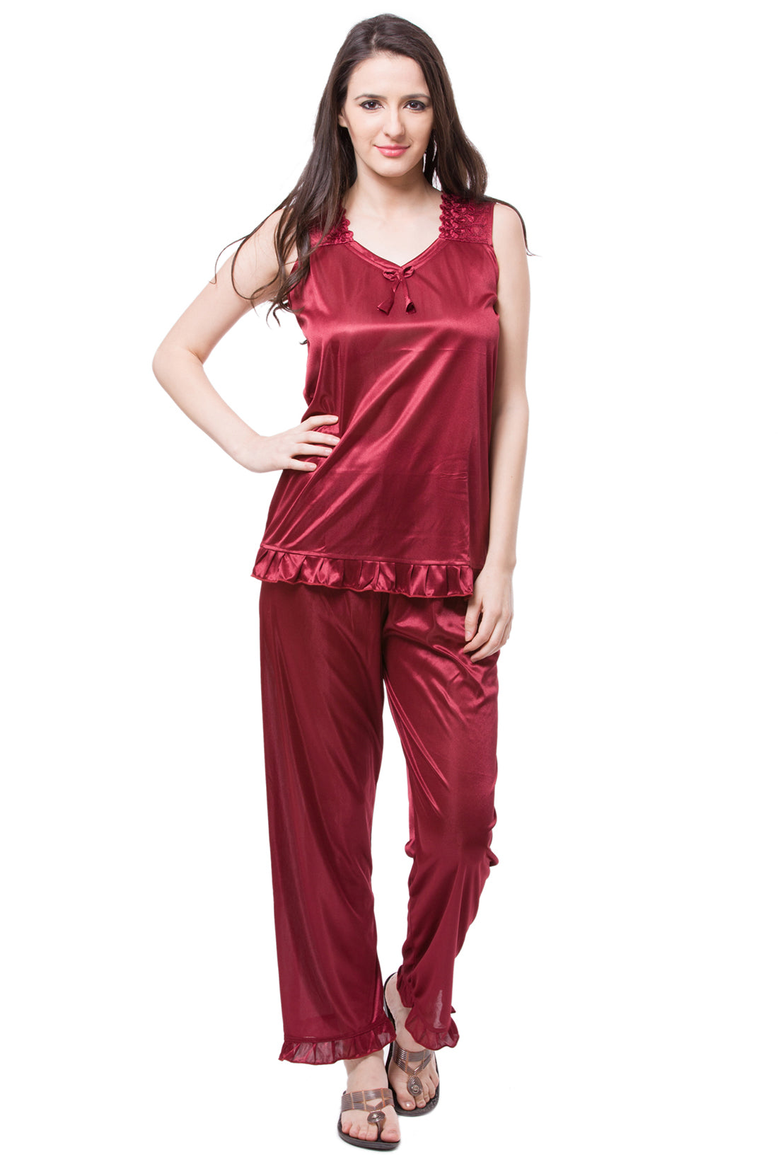 Isabella Satin Pyjama Set