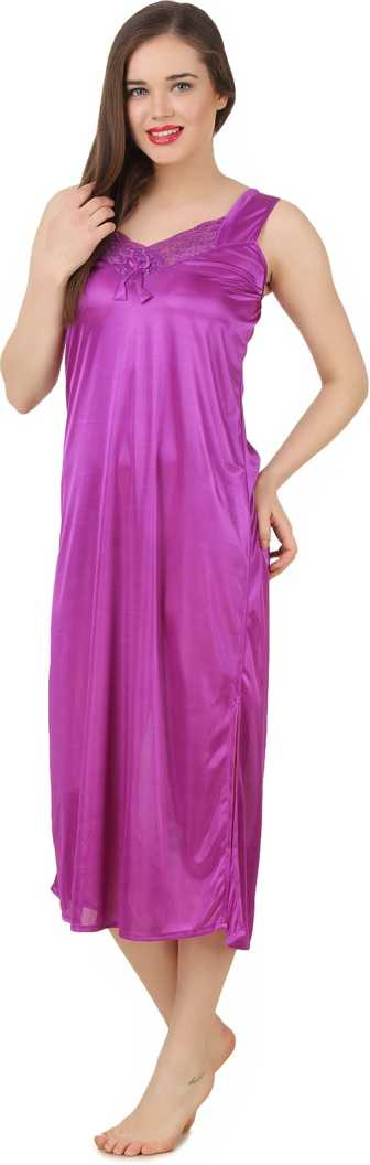 Women 2 Pieces Satin Dressing Gown Nightdress, Sexy Ladies Kimono Robe PINK, 8, 10, 12, 14, ONE SIZE 12