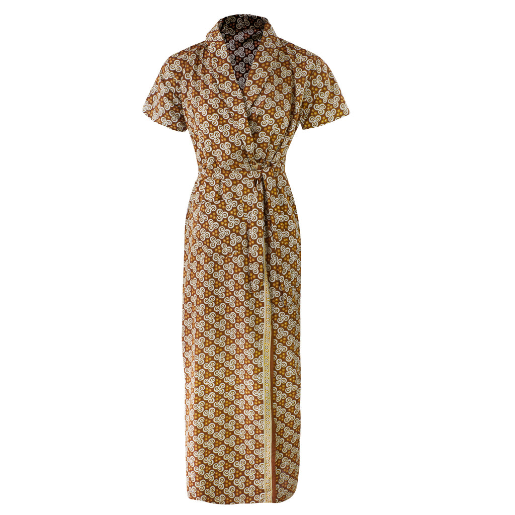 Ladies 100% Cotton Robe [colour]- Hautie UK, #Nightfashion | #Underfashion SIZE 8 10 12 14  YELLOW