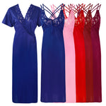 Load image into Gallery viewer, Womens Plus Size Nightdress 2 Pcs Set [colour]- Hautie UK, #Nightfashion | #Underfashion