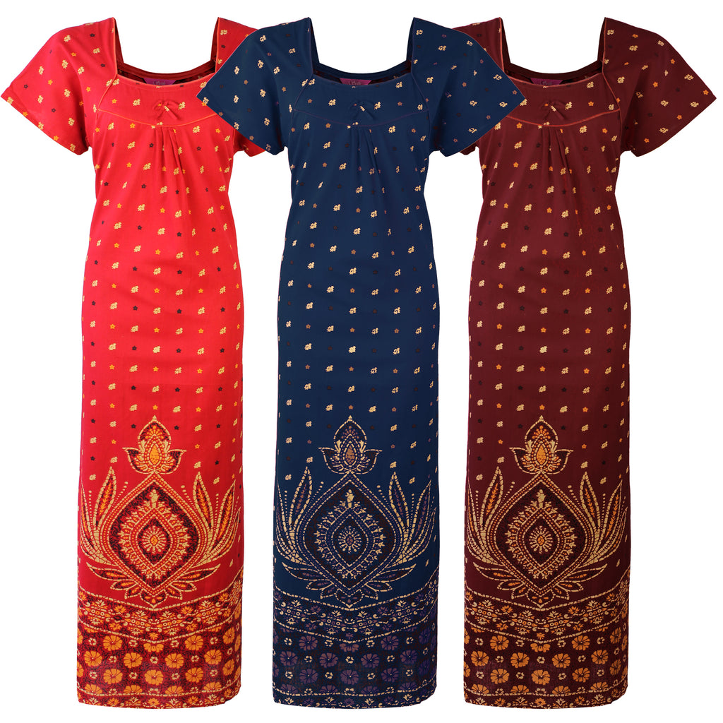 Indian Pakistani Cotton Stitched Nightdress [colour]- Hautie UK, #Nightfashion | #Underfashion