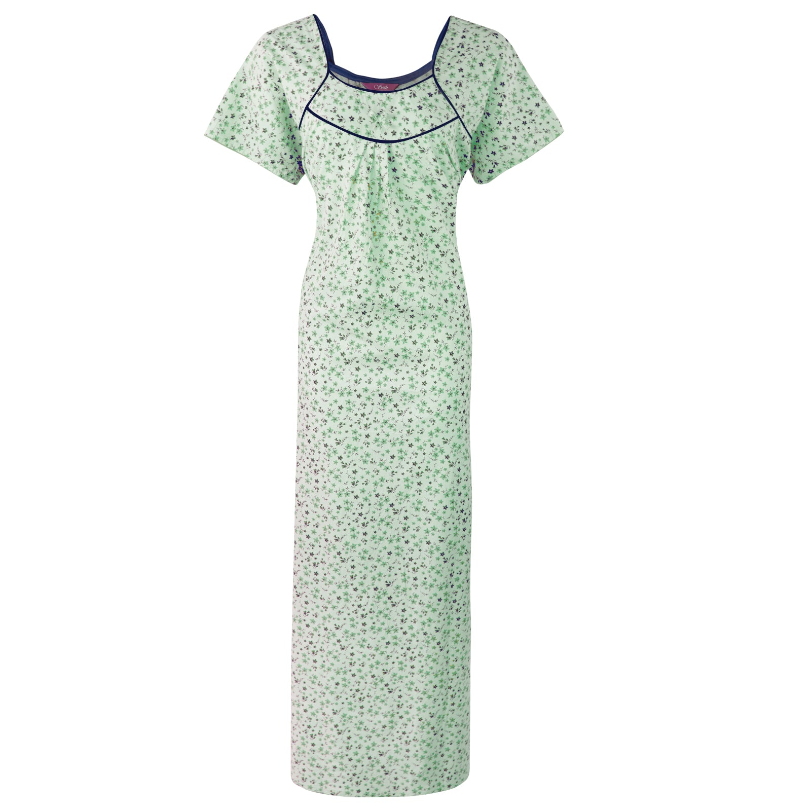 Plus Size 100% Cotton Nighty [colour]- Hautie UK, Size 22,24,26 GREEN