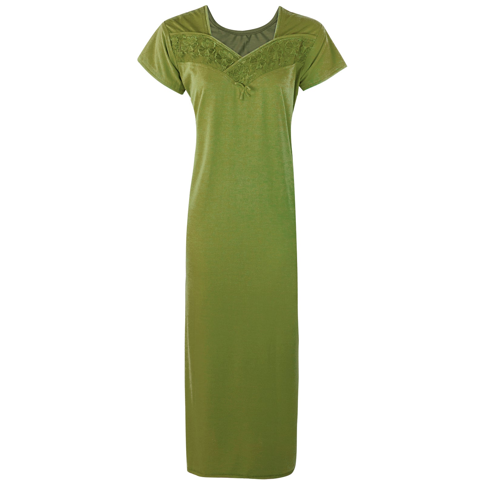 Colour: Green Cotton Blend Comfy Jersey Nightdress Size: 12-16