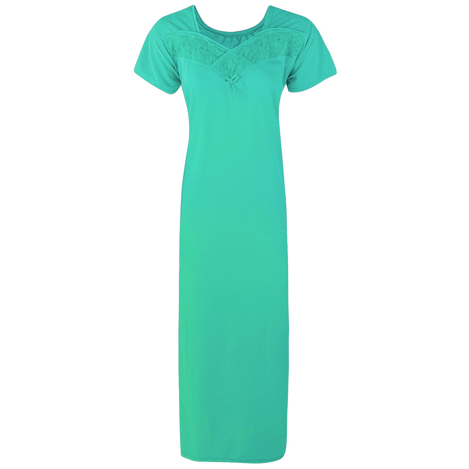 Colour: Teal Cotton Blend Comfy Jersey Nightdress Size: 12-16