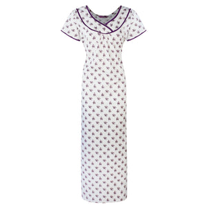 Womens Nightie Night Gown 100% Soft Cotton Plus Size Long [colour]- Hautie UK, #Nightfashion | #Underfashion