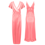 Load image into Gallery viewer, 2 Pcs Satin Strappy Nighty With Dressing Gown [colour]- Hautie UK, #Nightfashion | #Underfashion