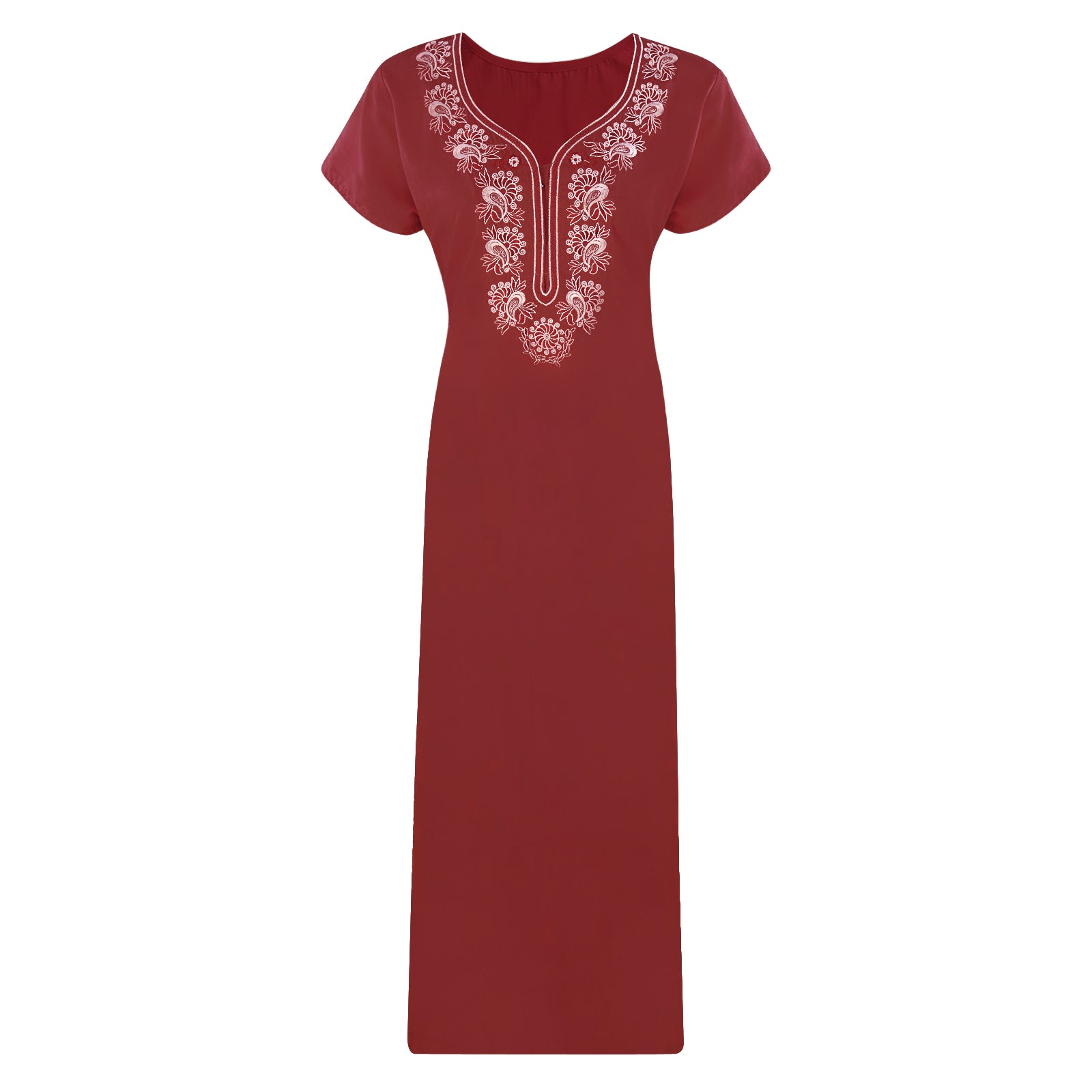 Cotton Rich Embroidery Nightdress [colour]- Hautie UK, #Nightfashion | #Underfashion