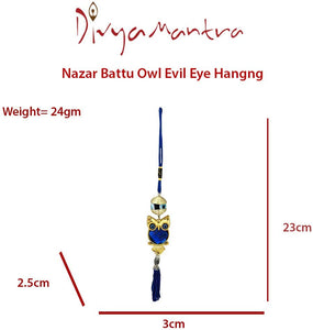 EVIL EYE WALL CAR HANGING GREEK OWL EVIL EYE PROTECTION [colour]- Hautie UK, #Nightfashion | #Underfashion