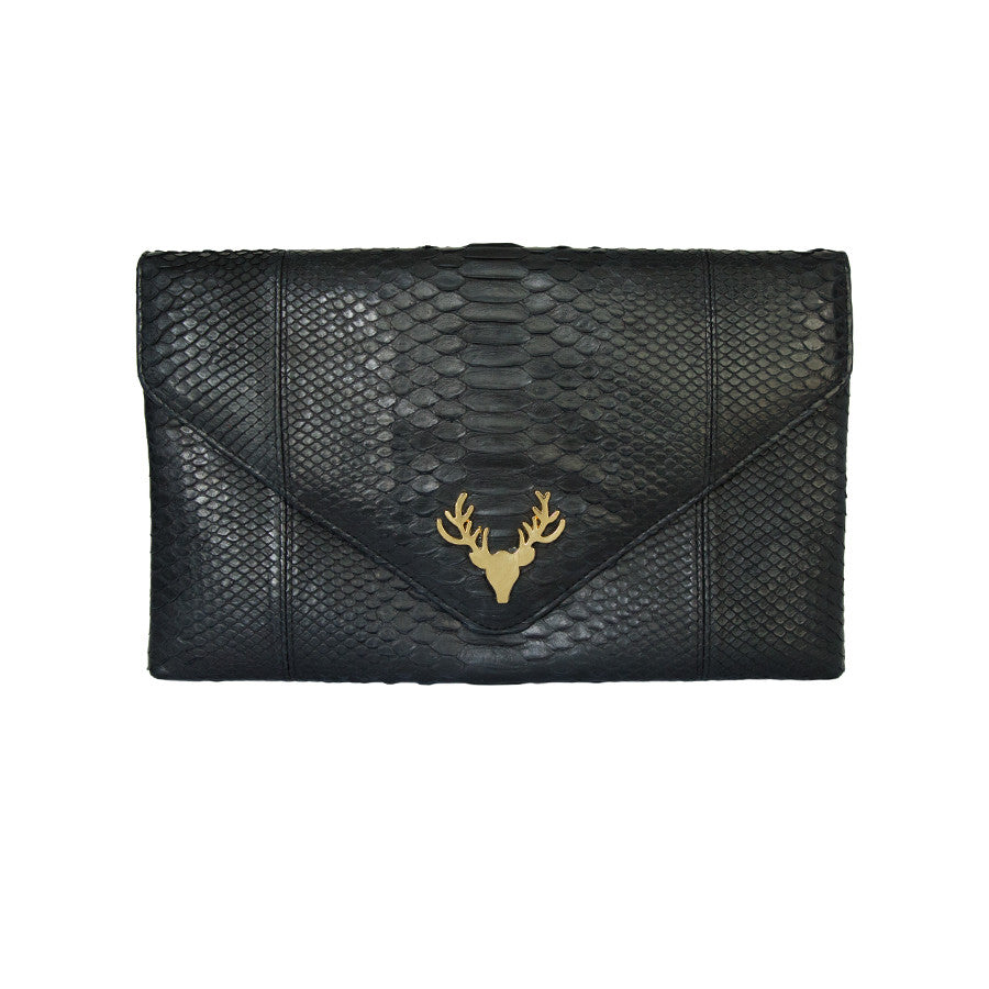 Katie Envelope Clutch Black--Final Sale