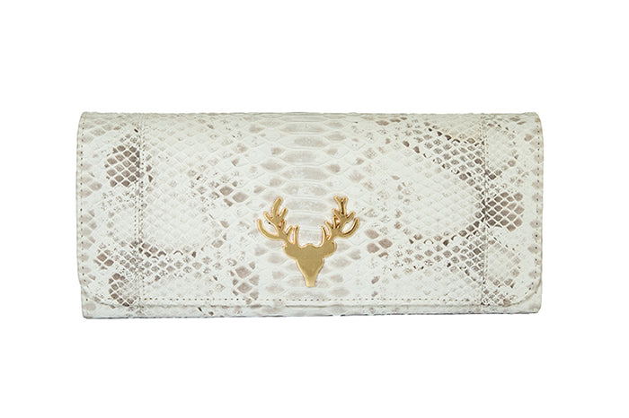 Harper Clutch Natural Speckled--Final Sale