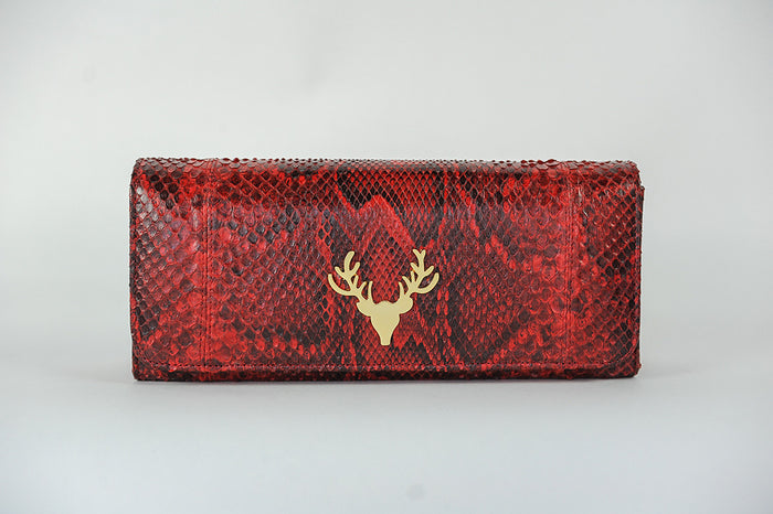 Harper Clutch Red--FINAL SALE
