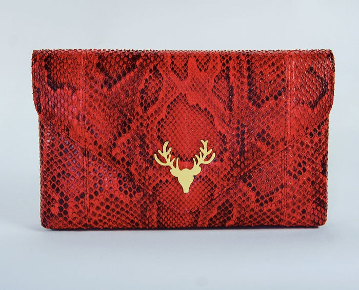 Katie Envelope Clutch Red--Final Sale