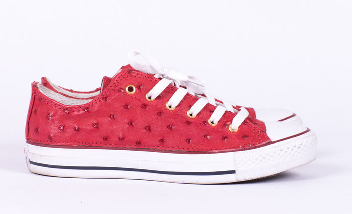 Custom Ostrich Low Top Chucks