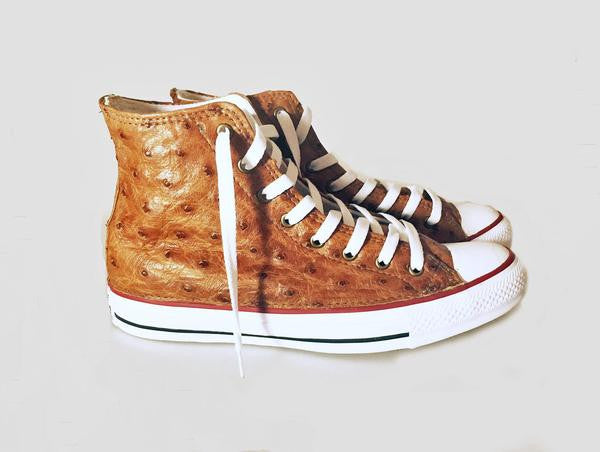Custom Ostrich High Top Chuck Taylors