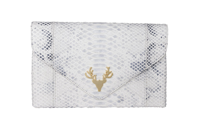 Katie Envelope Clutch Natural Speckled--FINAL SALE