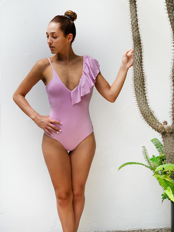 Birds One Piece Lila