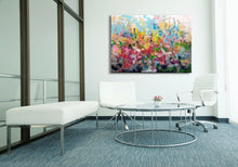 "Laden Sie das Bild in den Galerie-Viewer, Coming soon ""Landschaft in bunt und abstrakt"", 100 x 140 cm"