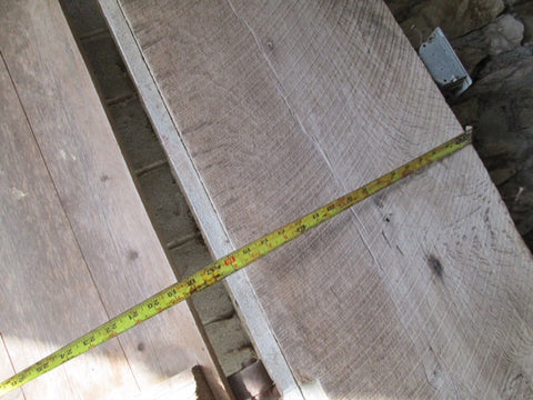 Reclaimed oak beams, joists and decking
