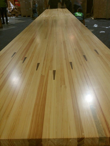 Reclaimed Bowling Lane Tables