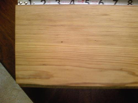 Long grain, yellow pine flooring